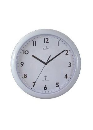 'Cadiz' White Radio Controlled Wall Clock