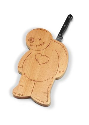 Ouch Voodoo Chopping board and Knife