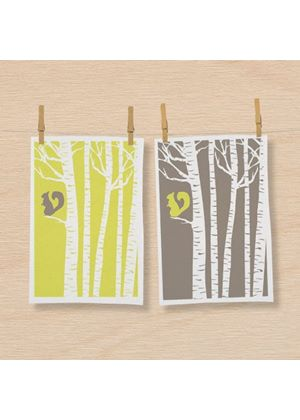 In The Woods - Tea Towels - Squirrel (2 Pack)