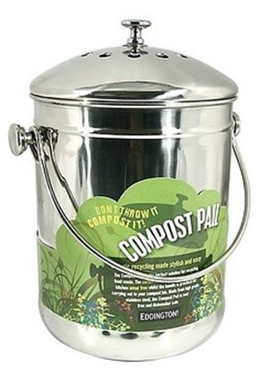 Compost Pail Stainless Steel