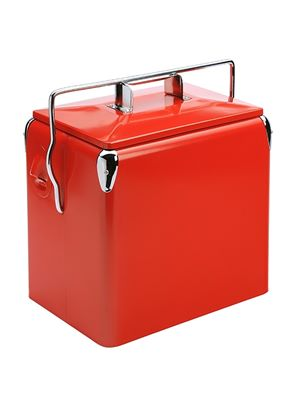 Retro Picnic Cooler Really Red
