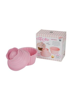 Pink Project Giant Cupcake Silicone Mould in Gift Box, Pink, 2 Pieces by Ethos