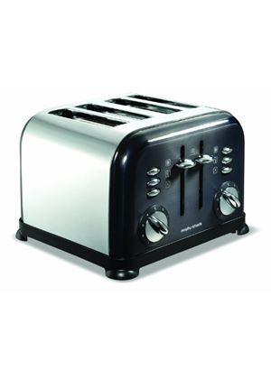 Morphy Richards Accents 44733 4 Slice Toaster, Black