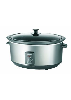 Morphy Richards 48718 Oval Slow Cooker 6.5 Litre, Stainless Steel