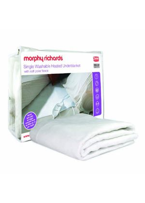 Morphy Richards 75187 Polar Fleece Washable Electric Blanket, Single