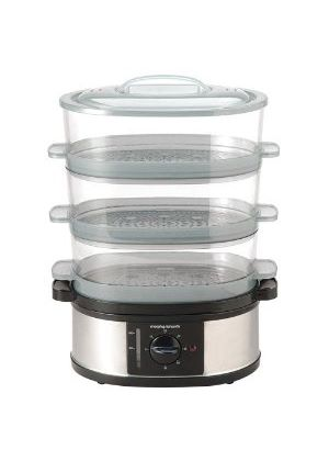 48755 3 Tier Food Steamer Stainless Steel