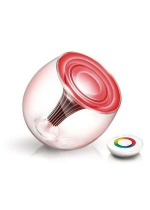Philips LivingColours Gen 2 69171/60/PU Colour Changing Mood Lamp with Remote Control, Clear