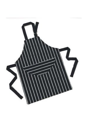 Children's Apron Navy Butchers Stripe