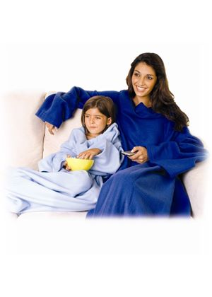 Snuggle Fleece Blanket with Sleeves Blue
