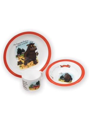Gruffalo Melamine Feasting Set - Plate, Cup and Bowl