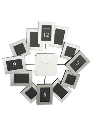 Photo frame Clock - Silver