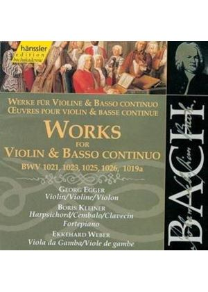 Johann Sebastian Bach - Works For Violin And Basso Continuo (Egger, Kleiner)