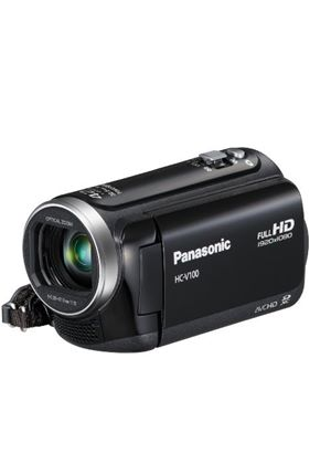 Panasonic V100 Full HD 1920 x 1080 Camcorder - Black (42x Intelligent Zoom, SD Card Recording, 2D/3D Conversion, Power OIS, Face Recognition) 2.7 inch LCD