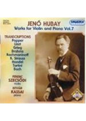 Hubay: Transcriptions for Violin and Piano, Vol 7