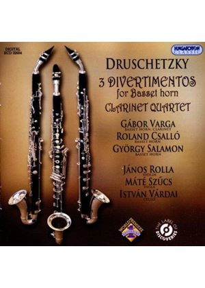 Druschetzky: 3 Divertimentos for Basset Horn; Clarinet Quartet (Music CD)