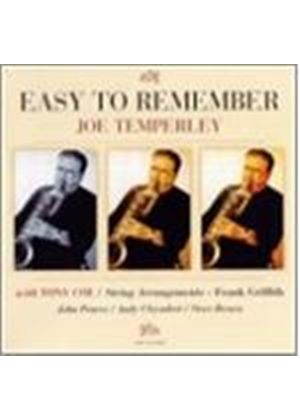 Joe Temperley - Easy To Remember (Music CD)