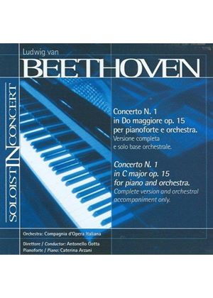 Beethoven: Piano Concerto No. 1 (Complete version and orchestral accompaniment only) (Music CD)