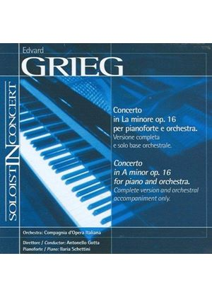 Grieg: Piano Concerto (Complete version and orchestral accompaniment only) (Music CD)
