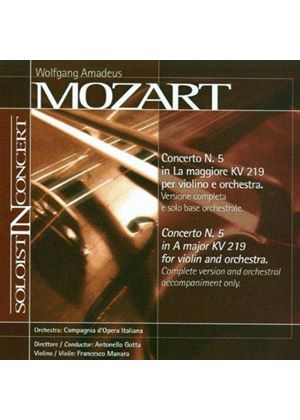 Mozart: Violin Concerto No. 5 (Complete version and orchestral accompaniment only) (Music CD)