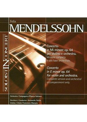 Mendelssohn: Violin Concerto (Complete version and orchestral accompaniment only) (Music CD)