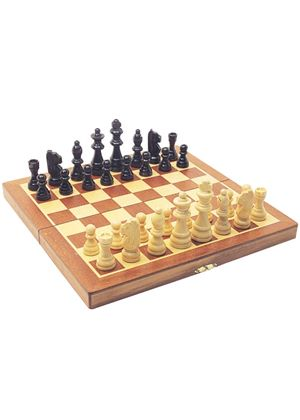 Wooden Fold-Up Chess Set