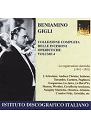 Beniamino Gigli - The Art Of Benjimino Gigli Volume 4 (Music CD)
