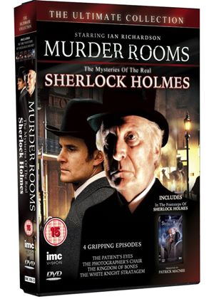 Murder Rooms - The Mysteries of The Real Sherlock Holmes & In The Footsteps Of Sherlock Holmes - Patrick Macnee - Box Set