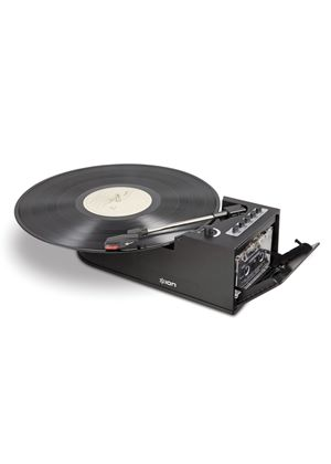 ION Duo Deck - Ultra-Portable USB Turntable with Cassette Deck