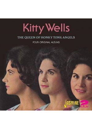 Kitty Wells - The Queen Of Honkey Tonk Angels (Four Complete Albums) (Music CD)