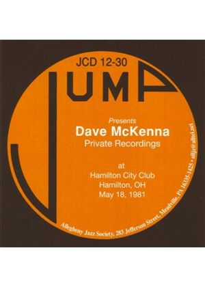Dave McKenna - May 18, 1981 Private Solo Recordings (Live Recording) (Music CD)