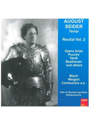 August Sieder - Opera Arias Recital, Vol 2