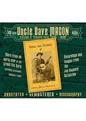 Uncle Dave Macon - Classic Cuts 1924 - 1938 Volume 2 (Music CD)