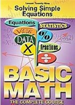 Basic Maths - Solving Simple Equations