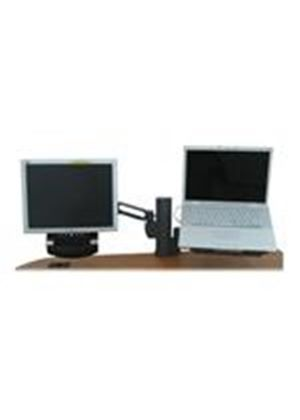 Kensington Column Mount Dual Monitor Arm with SmartFit System - Notebook / LCD monitor stand - charcoal