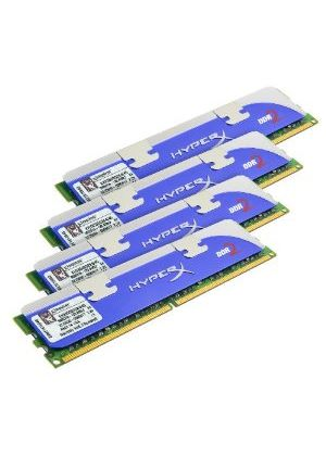 Kingston HyperX - Memory - 8 GB ( 4 x 2 GB ) - DIMM 240-pin - DDR2 - 800 MHz / PC2-6400 - CL4 - 2.1 V - unbuffered - non-ECC