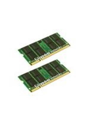 Kingston - Memory - 2 GB ( 2 x 1 GB ) - SO DIMM 200-pin - DDR2 - 667 MHz / PC2-5300 - unbuffered # KTA-MB667K2/2G