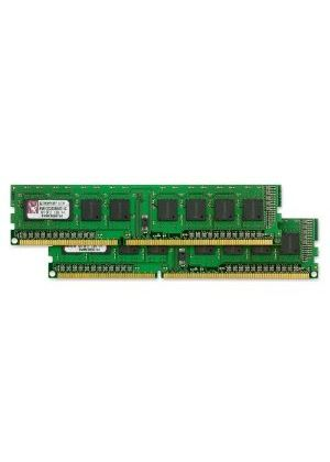 Kingston ValueRAM - Memory - 1 GB ( 2 x 512 MB ) - DIMM 240-pin - DDR3 SDRAM - 1333 MHz - CL8 - 1.5 V - unbuffered - non-ECC