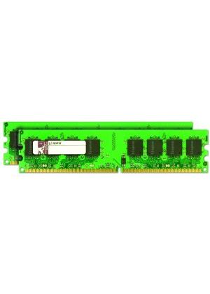 Kingston ValueRAM - Memory - 4 GB ( 2 x 2 GB ) - DIMM 240-pin - DDR2 - 800 MHz - CL6 - 1.8 V - unbuffered - ECC # KVR800D2E6K2/4G