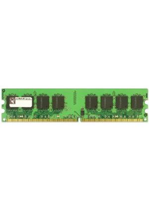 Kingston ValueRAM - Memory - 2 GB - DIMM 240-pin - DDR2 - 800 MHz - CL6 - 1.8 V - unbuffered - ECC # KVR800D2E6/2G