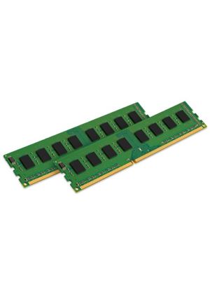 Kingston ValueRAM - Memory - 4 GB ( 2 x 2 GB ) - DIMM 240-pin - DDR2 - 800 MHz / PC2-6400 - CL6 - 1.8 V - unbuffered - non-ECC