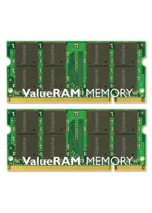 Kingston ValueRAM - Memory - 4 GB ( 2 x 2 GB ) - SO DIMM 200-pin - DDR2 - 800 MHz - CL6 - 1.8 V - unbuffered - non-ECC # KVR800D2S6K2/4G
