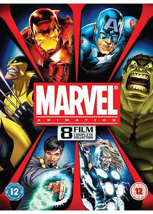 Marvel Complete Animation Collection - 8 Movies (Featuring: Iron Man, Thor, Hulk, Captain America, Wolverine, The Avengers)
