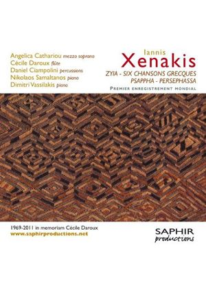 Iannis Xenakis: Zyia; Six Chansons Grecques; Psappha; Persephassa (Music CD)