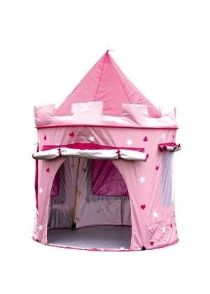Childrens Princess Pop Up Castle - Suitable for Indoor & Outdoor Use : Girls Pink Toy Play Tent / Playhouse / Den