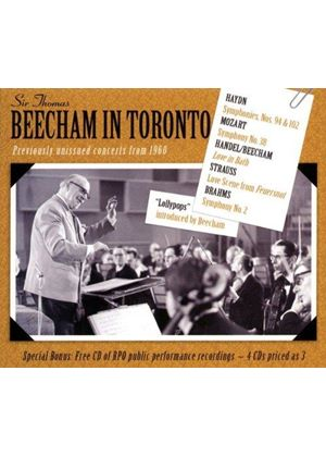 Beecham In Toronto (Music CD)