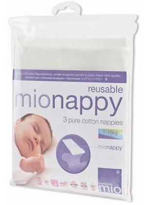 Mionappies Size 2 (7-16kgs, 16-35lbs) - 3 Pack