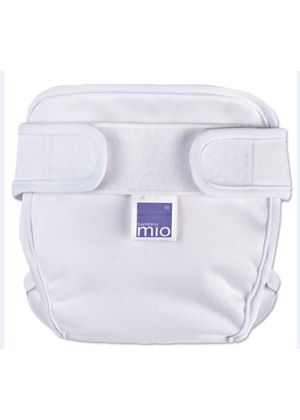 Miosoft Nappy Cover White (Newborn to XL)