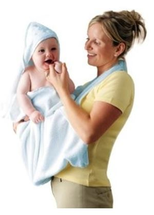 Splash and Wrap Baby Bath Towel - Blue