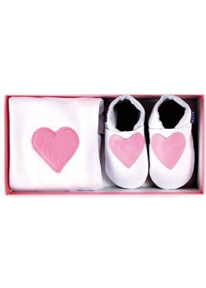 Heart Boxed Gift Set - Babygrow & Shoes