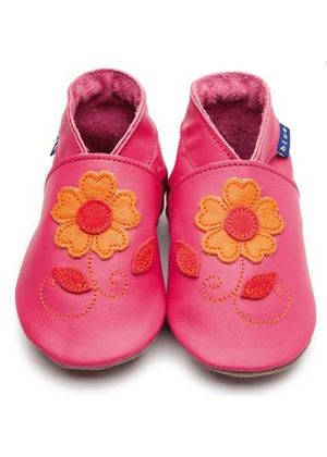 Soft Leather Baby Shoes -Romanie Fuchsia